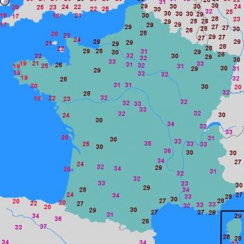 Fortes chaleurs jeudi : entre 30 et 35°C sur de nombreuses régions