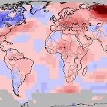 Octobre 2018 chaud dans le Monde